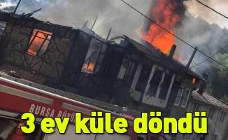 Trafo patladı, 3 köy evi küle döndü