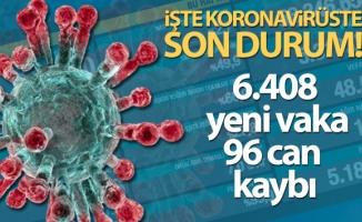 Türkiye'de son 24 saatte 6.408 koronavirüs vakası tespit edildi
