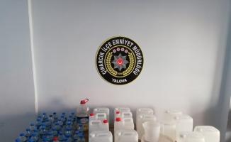 Yalova'da kaçak alkol operasyonu