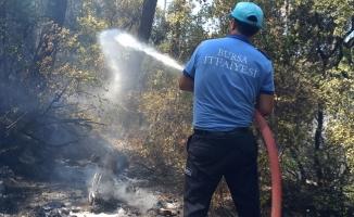 Bursa Büyükşehir Belediyesi itfaiye ekipleri Marmaris yangınına müdahale ediyor