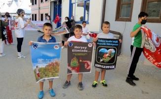 Sporcu çocuklardan çevre temizliği