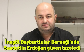 İnegöl Bayburtlular Derneği'nde Saadettin Erdoğan güven tazeledi