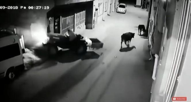 Bursa'da akıl almaz kaza kameraya yansıdı
