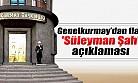 Genelkurmay'dan flaş ''Süleyman Şah'' açıklaması