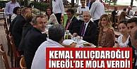 Kemal Kılıçdaroğlu İnegöl'de mola verdi