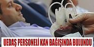UEDAŞ Personeli Kan Bağışında Bulundu
