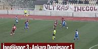 İnegölspor: 3 - Ankara Demirspor: 1