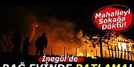 Bağ evi tamamen yandı..!