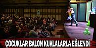 Çocuklar Balon Kuklalarla Eğlendi