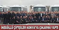 İnegöllü Çiftçiler Konya'ya Çıkarma Yaptı