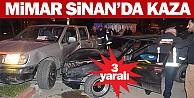 Mimar Sinan'da kaza; 3 yaralı