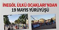 İnegöl Ülkü Ocakları'ndan 19 Mayıs Yürüyüşü
