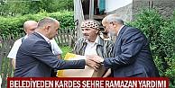 Belediyeden kardeş şehre ramazan yardımı