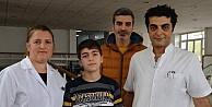 Bursa'da yürüyemez denen çocuk zoru başardı