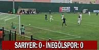 Sarıyer: 0 - İnegölspor: 0.