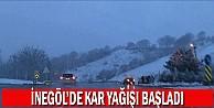 İnegöl'de Kar yağışı başladı!