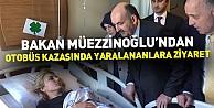 Bakan Müezzinoğlu'ndan otobüs kazasında yaralananlara ziyaret