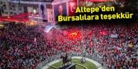 Altepe'den Bursalılara teşekkür