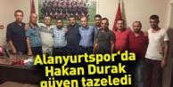 Alanyurtspor'da Hakan Durak güven tazeledi