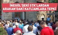 İnegöl'deki STK'lardan Arakan'daki katliamlara tepki