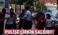İnegöl'de polise çirkin saldırı