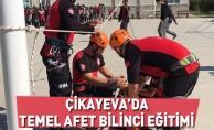 Çikayeva'da Temel Afet Bilinci Eğitimi