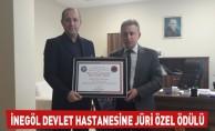 İnegöl Devlet Hastanesine Jüri Özel Ödülü