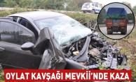 Kamyona Arkadan Çarpan Otomobil Şarampole Uçtu; 1 yaralı