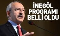 Kılıçdaroğlu'nun İnegöl programı belli oldu