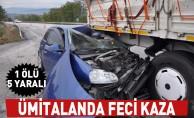 Ümitalanda feci kaza; 1 ölü, 5 yaralı
