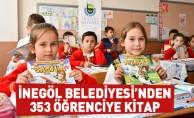 İnegöl Belediyesi'nden 353 Öğrenciye Kitap