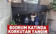 İnegöl'de bodrum katında korkutan yangın