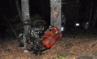 İnegöl#039;de traktör 100 metrelik uçuruma yuvarlandı: 2 ölü