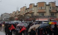İnegöl'de Binler Kudüs için Yürüdü