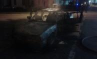 İnegöl'de otomobil alev alev yandı