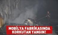 Mobilya Fabrikasında Korkutan  Yangın!