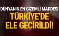 Dünyanın en gizemli maddesi... Türkiye'de ele geçirildi!