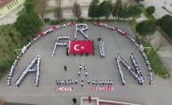 İnegöl#039;de öğrencilerden Afrin  koreografi