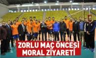 Taban'dan Şampiyonluk Maçı Öncesi Moral Ziyareti