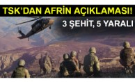TSK: '3 asker şehit oldu, 5 asker yaralandı'