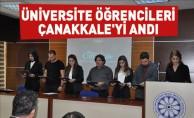 Üniversite Öğrencileri Çanakkale'yi Andı