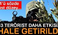 İçişleri Bakanlığı: Son bir haftada 43 terörist etkisiz hale getirildi