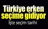 Türkiye erken seçime gidiyor İşte seçim tarihi