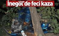 İnegöl#039;de feci kaza