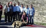 Köye asfalt geldi köylüler kurban kesti