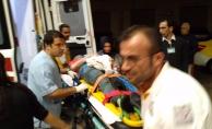 İnegöl#039;de otomobil şarampole yuvarlandı:5 yaralı