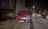 Mobilya Sanayisinde kaza: Hurdaya döndüler