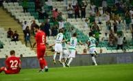 TFF 1. Lig: Bursaspor: 1 - Akhisarspor: 0 (İlk yarı sonucu)