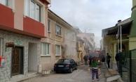 Bursa'da bodrum katta yangın