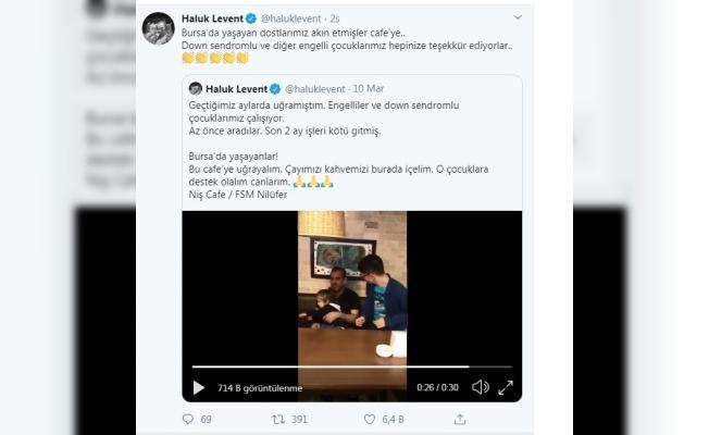 Haluk Levent çağrı yaptı, Bursa'daki o kafe doldu taştı